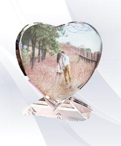 הדפסה על זכוכית קריסטל לב הדפסה על מוצרים