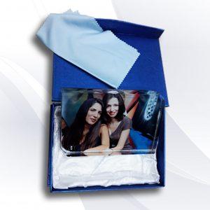 הדפסה על קריסטל זכוכית עם תמונה בעיצוב אישי