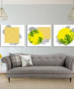 טריפל תמונות קנבס לסלון לעיצוב הבית, לחדרי שינה או למטבח