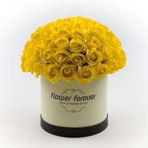 פרחי סבון שנשארים איתך עם ריח קופסה עגולה
