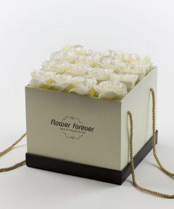 פרחי סבון שנשארים איתך עם ריח קופסה מרובעת
