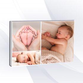 הדפסה קולאז 3 תמונות על קנבס בהתאמה אישית עם תמונה אישית קולאז