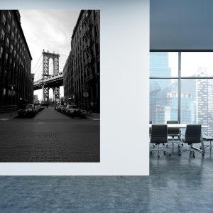 תמונת קנבס - גשר מנהטן למשרד ולעיצוב הבית, לחדרי שינה או למטבח