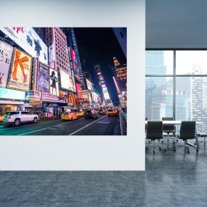 תמונת קנבס טיימס סקוויר ניו יורק למשרדן לעיצוב הבית, לחדרי שינה או למטבח