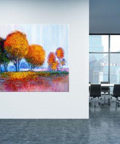 תמונת קנבס - יער הצבעים למשרד ולעיצוב הבית, לחדרי שינה או למטבח