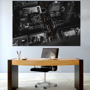 תמונת קנבס - ניו יורק שחור לבן למשרד ולעיצוב הבית, לחדרי שינה או למטבח