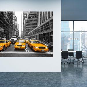 תמונת קנבס - מוניות ניו יורק למשרד ולעיצוב הבית, לחדרי שינה או למטבח