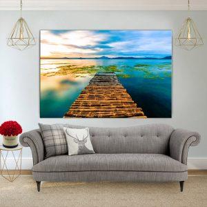 תמונת קנבס - מזח במבוק לסלון לעיצוב הבית, לחדרי שינה או למטבח