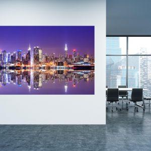תמונת קנבס - ניו יורק בערב למשרד ולעיצוב הבית, לחדרי שינה או למטבח