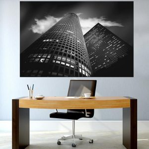 תמונת קנבס - עזריאלי תל אביב למשרד ולעיצוב הבית, לחדרי שינה או למטבח