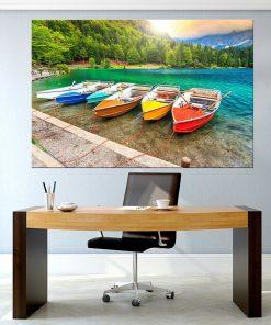 תמונת קנבס - סירות צבעוניים למשרד לעיצוב הבית, לחדרי שינה או למטבח