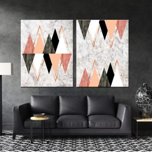 זוג תמונות קנבס לסלון לעיצוב הבית, לחדרי שינה או למטבח