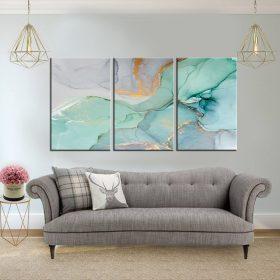 שלישיית קנבס לסלון לעיצוב הבית, לחדרי שינה או למטבח מחולק