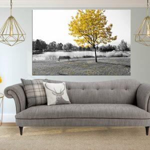 תמונת קנבס - העץ הצהוב לסלון לעיצוב הבית, לחדרי שינה או למטבח