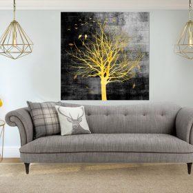 תמונת קנבס - עץ אור הלילה לסלון לעיצוב הבית, לחדרי שינה או למטבח