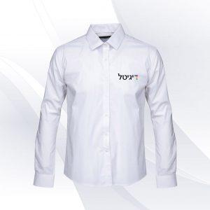 הדפסה על חולצה מכופתרת עם לוגו