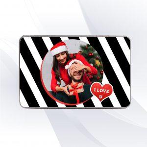 קופסת מתנה בעיצוב אישי עם שם ותמונה