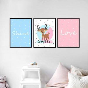 סט תמונות - אייל מתוק מעוצב לחדר, לעיצוב הבית על קיר בסלון