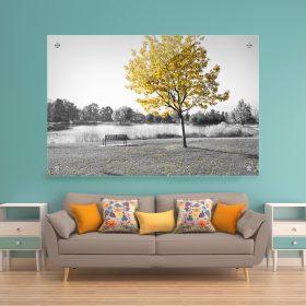 תמונת זכוכית לעיצוב הבית על קיר בסלון