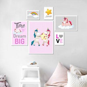 סט תמונות - חדרי קרן מעוצב לחדר, לעיצוב הבית על קיר בסלון
