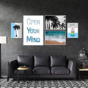 סט תמונות - השראת ים מעוצב לסלון ולמטבח לעיצוב הבית