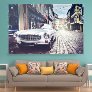 תמונת זכוכית מכונית ספורט קלסיק לסלון לעיצוב הבית