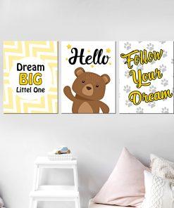סט תמונות מעוצב לחדר, לעיצוב הבית על קיר בסלון