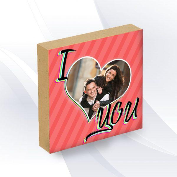 בלוק עץ מעוצב עם תמונה אישית פוטובלוק