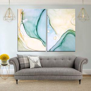 זוג תמונת קנבס לסלון, חדר שינה או למטבח לעיצוב הבית