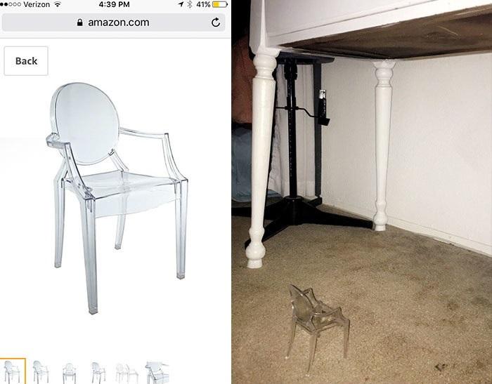 כיסא קטן שהוזמן מהאינטרט