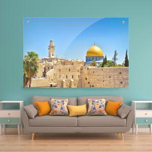 הדפסה על תמונת זכוכית לעיצוב הבית על קיר בסלון