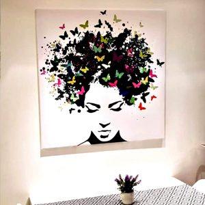 תמונת קנבס שיער פרפרים לקוח מרוצה