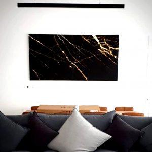 תמונת קנבס שיש אבסטרקט ענקית - לקוח מרוצה