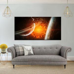 תמונת קנבס אבנים חמות בחלל לסלון לעיצוב הבית, לחדרי שינה או למטבח