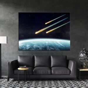 תמונת קנבס לסלון תחרות מטאורים לעיצוב הבית, לחדרי שינה או למטבח