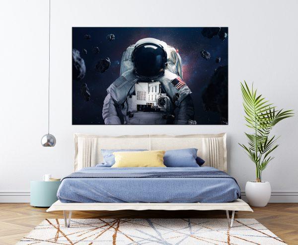 תמונת קנבס לסלון אסטרונאוט לעיצוב הבית ולחדרי שינה או למטבח