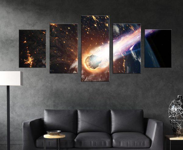 תמונת קנבס מחולקת לסלון או לחדר שינה לעיצוב הבית