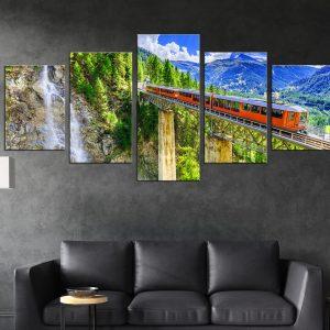 תמונת קנבס מחולק לסלון או לחדר שינה לעיצוב הבית