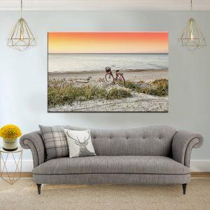 תמונת קנבסאופניים מול השקיעה לסלון לעיצוב הבית