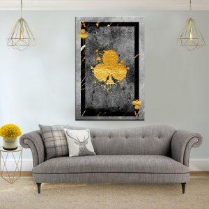 תמונת קנבס אס תלתן יוקרה לסלון לעיצוב הבית