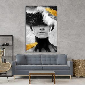 תמונת אומנות אשת הגל לסלון לעיצוב הבית