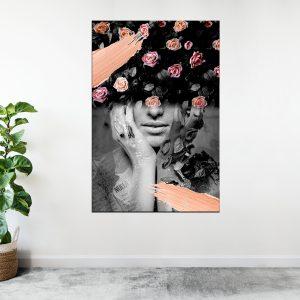 תמונת אומנות - אשת הפרחים לסלון לעיצוב הבית