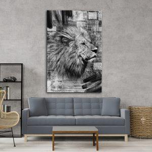 תמונת אומנות - המלך האפור לסלון לעיצוב הבית