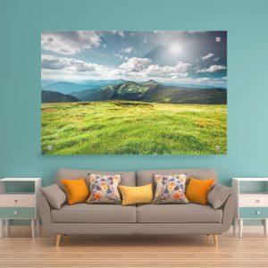 תמונת זכוכית - הרי צ'וראנה לעיצוב הבית על קיר בסלון