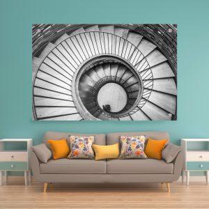 תמונת זכוכית - מדרגות אומנותיות לעיצוב הבית על קיר בסלון
