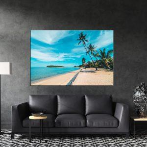 תמונת קנבס - חוף החופש לסלון לעיצוב הבית
