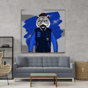 תמונת אומנות - טייגר ספורטיבי לסלון לעיצוב הבית