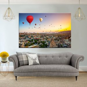 תמונת קנבס כדורים פורחים בקפדוקיה לסלון לעיצוב הבית