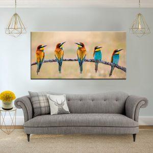 תמונת קנבס מפגש הציפורים לסלון לעיצוב הבית
