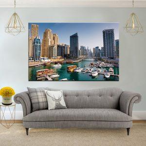 תמונת קנבס נמל דובאיי לסלון לעיצוב הבית
